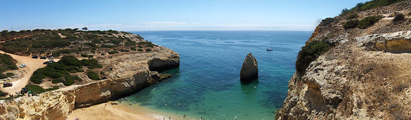 Carvoeiro Beach panoramic view
