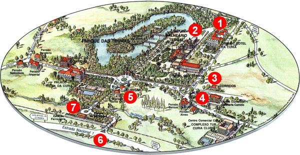 mapa de portugal curia Location   Grande Hotel da Curia Golf & Spa mapa de portugal curia