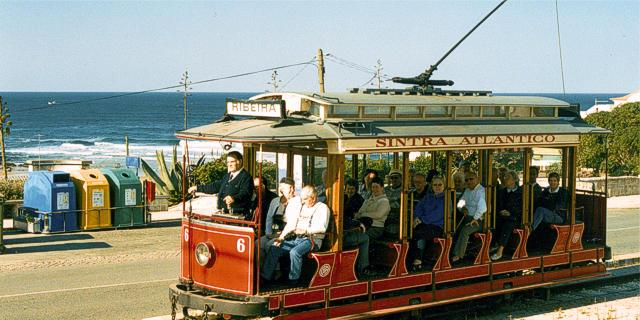 Tram linking Maçãs Beach to Sintra