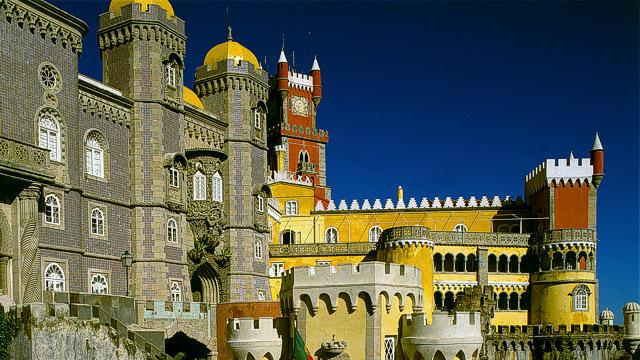 Pena Palace towers, turrets and terraces