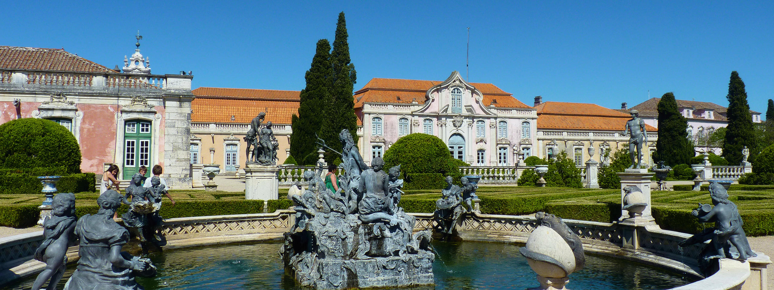 Queluz Palace fountain and garden