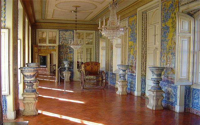 Corridor of the Azulejos of Queluz Palace