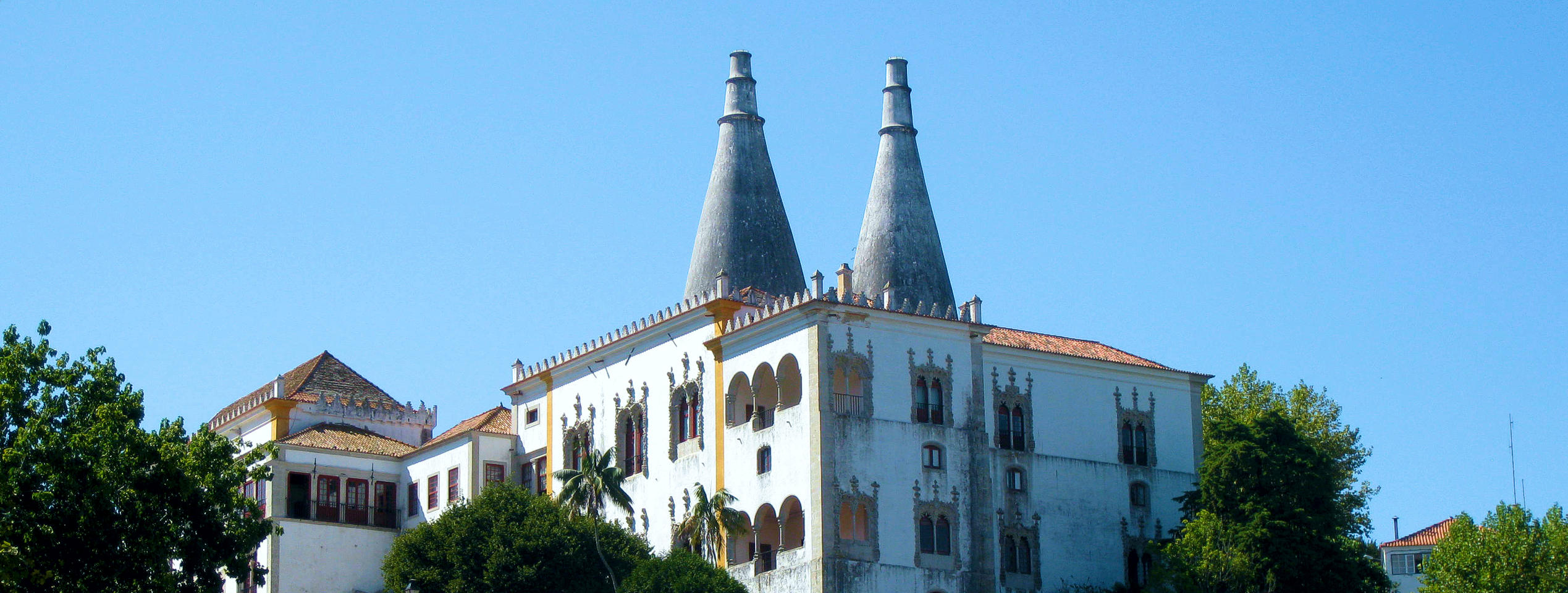 Sintra National Palace featuring its twin chimneys