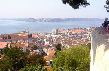 Downtown Lisbon viewed from the city castle