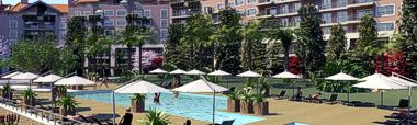 Apartments Parque Cidadela and Swimming pool
